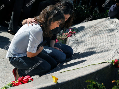 Danielle and Carie Lemack Sisters Carie, left, and Danielle Lemack whose mother Judy Larocque died on ill-fated Flight 11 from Logan Airport on 9/11, grieve in Boston at the Garden of Remembrance, a memorial dedicated to the 206 Massachusetts victims of September 11, 2001. The event was held in the wake of news of the death of Osama bin Laden