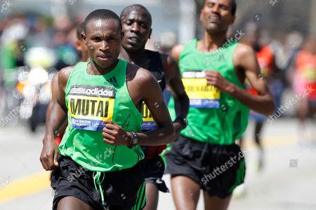 Editorial image of Boston Marathon, Newton, USA