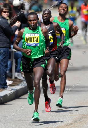 Editorial picture of Boston Marathon, Newton, USA