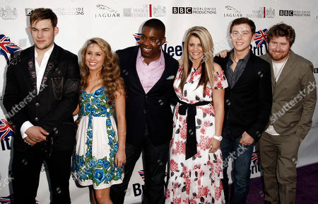 "James Durbin, Haley Reinhart, Jacob Lusk, Lauren Alaina, Scotty McCreery, Casey Abrams From left, ""American Idol"" contestants James Durbin, Haley Reinhart, Jacob Lusk, Lauren Alaina, Scotty McCreery, and Casey Abrams arrive at the champagne launch of the fifth annual BritWeek in Los Angeles, . Britweek honors the influences the British have had on Southern California"