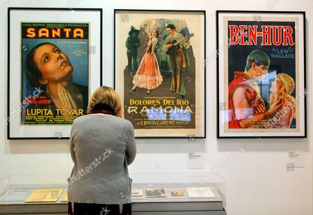 Classic film posters featuring Lupita Tovar and Dolores del Rio are showcased at LA Plaza de Cultura y Artes, a center of Mexican American culture and arts seen adjacent to historic Olvera Street downtown Los Angeles . With an exhibit that includes interactive materials, crosses, letters, paintings, a small canon and other historical artifacts, the first cultural center in Los Angeles dedicated to the Mexican and Mexican American heritage will open to the public on Saturday, April 17