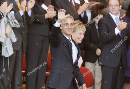Rahm Emanuel,Amy Rule Incoming Chicago Mayor Rahm Emanuel and his wife Amy Rule, arrive at his inauguration before taking the oath of office, in Chicago