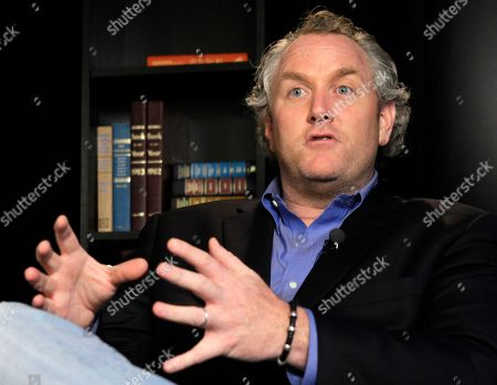 """Andrew Breitbart Conservative activist Andrew Breitbart, who runs the websites BigGovernment.com and BigJournalism.com, speaks during an interview at the Associated Press in New York, about Congressman Anthony Weiner, who Monday confessed to conducting """"inappropriate"""" online exchanges with six women. Breitbart claims he is holding onto at least one more unreleased Twitter photo of Congressman Weiner"""