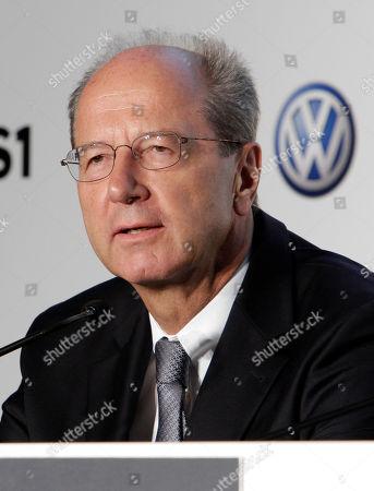 Hans Dieter Potsch Hans Dieter Potsch, Chief Financial Officer of Volkswagen, participates in a news conference at New York's Museum of Modern Art