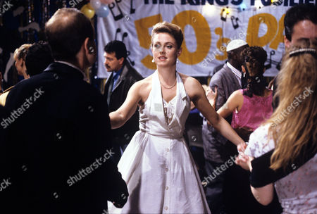 Cathryn Harrison dancing in a scene from 'Soldier Soldier' - 1990