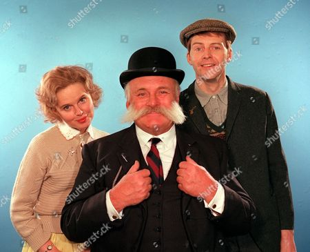 Jimmy Edwards, Patricia Brake and Ian Lavender in 'The Glums' - 1978