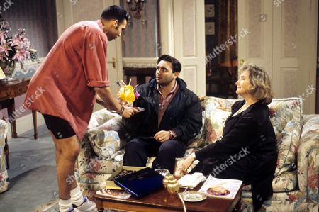 Stock Picture of Tony Slattery and Wanda Ventham in 'Just a Gigolo' - 1993