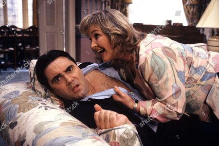 Stock Image of Tony Slattery and Wanda Ventham in 'Just a Gigolo' - 1993