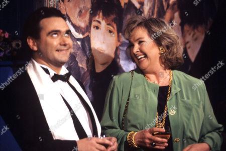 Stock Photo of Tony Slattery and Wanda Ventham in 'Just a Gigolo' - 1993