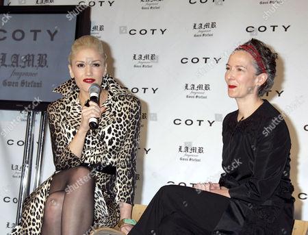 Gwen Stefani and Catherine Walsh SVP American Fragrances Coty Prestige Worldwide