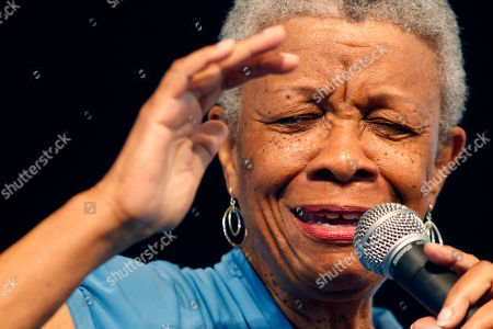 Jazz singer Germaine Bazzle performs at the Louisiana Jazz and Heritage Festival in New Orleans