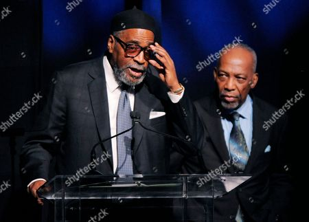 Kenneth Gamble, Leon Huff Producer-songwriting duo Kenneth Gamble, left, and Leon Huff accept the Outstanding Achievement for Musical Collaboration at the National Association of Recording Merchandisers Convention Awards Dinner, in Los Angeles