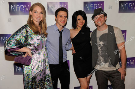"DiDi Benami, Kris Allen, Allison Iraheta, Blake Lewis Past ""American Idol"" performers, from left, DiDi Benami, Kris Allen, Allison Iraheta and Blake Lewis pose together at the National Association of Recording Merchandisers Convention Awards Dinner, in Los Angeles"