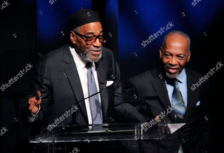 Kenneth Gamble, Leon Huff Producer-songwriting duo Kenneth Gamble, left, and Leon Huff accept the Outstanding Achievement Award for Musical Collaboration at the National Association of Recording Merchandisers Convention Awards Dinner, in Los Angeles