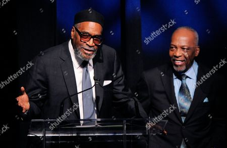 Kenneth Gamble, Leon Huff Producer-songwriter duo Kenneth Gamble, left, and Leon Huff accept the Outstanding Achievement for Musical Collaboration award at the National Association of Recording Merchandisers Convention Awards Dinner, in Los Angeles
