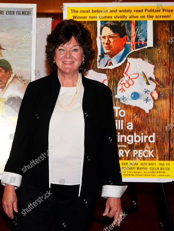 """Mary Badham Actress Mary Badham, who portrayed Jean Louise """"Scout"""" Finch in the film """"To Kill a Mockingbird,"""" arrives arrives for a U.S. Postal Service first-day-of-issue dedication ceremony for the Gregory Peck forever stamp at the Academy of Motion Picture Arts and Sciences in Beverly Hills, Calif"""