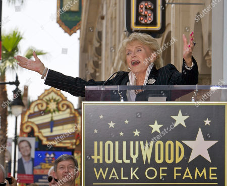 """Jane Morgan Singer Jane Morgan sings """"Fascination"""" as she is honored with a star on the Hollywood Walk of Fame in Los Angeles Friday, May, 6, 2011. Morgan had six gold records and was a frequent guest on """"The Ed Sullivan Show"""