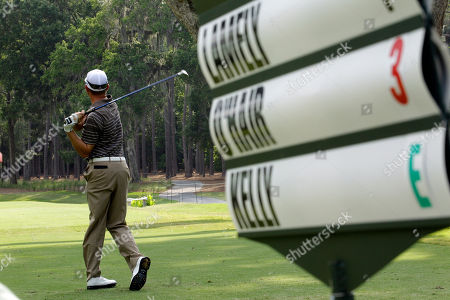 Derek Lamely Derek Lamely hits from the sixth tee during the second round of The Players Championship golf tournament in Ponte Vedra Beach, Fla