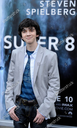 """Zach Mills Zach Mills, a cast member in the film """"Super 8,"""" poses at the premiere of the film in Los Angeles"""