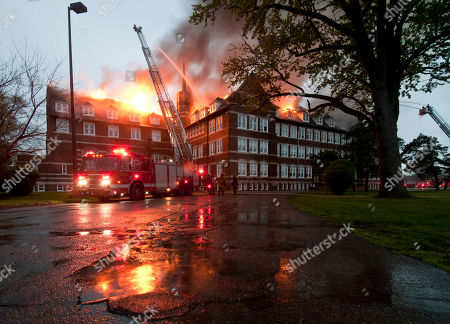 Fire tears through public magnet school Paul Robeson Academy, in Detroit. The fire started about 4 a.m. and has heavily damaged the upper floors. Investigators have not released information on the cause of the fire. According to district emergency financial manager Robert Bobb, the building is 93-years-old