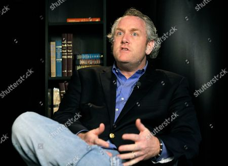 Andrew Breitbart Conservative blogger Andrew Breitbart, who runs BigGovernement.com and BigJournalism.com, is shown during an interview at the Associated Press in New York, about photos posted by U.S. Rep. Anthony Weiner who Monday admitted to conducting sexually charged online realtionships with several women. Breitbart said he is still in possession of one sexually explicit photo given to him by Meghan Broussard, 26 of Texas