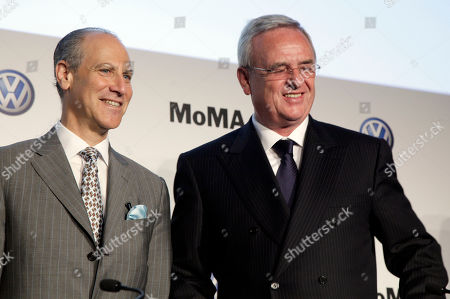 Martin Winterkorn, Glenn Lowry Glenn Lowry, left, Director of the Museum of Modern Art, and Martin Winterkorn, CEO of Volkswagen,pose for photos after a news conference at the museum, where MoMA and Volkswagen announced a new partnership