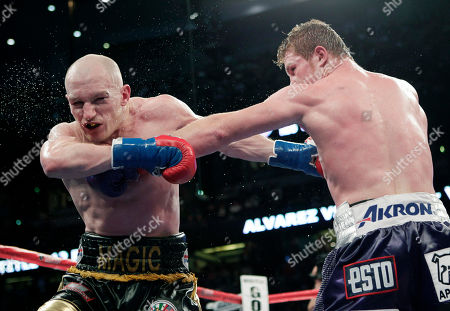 Saul Alvarez, Matthew Hatton Saul Alvarez, right, of Mexico, right, lands a punch against Matthew Hatton, of England, during the 10th round of the WBC super welterweight title boxing match in Anaheim, Calif., on . Alvarez won by unanimous decision