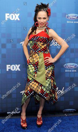 """Naima Adedapo American Idol"""" finalist Naima Adedapo poses at the """"American Idol"""" Finalists Party in Los Angeles"""