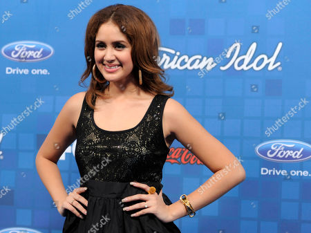 "Karen Rodriguez American Idol"" finalist Karen Rodriguez poses at the ""American Idol"" Finalists Party in Los Angeles"