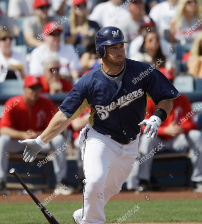 Jeremy Reed Milwaukee Brewers' Jeremy Reed watches after hitting a single during the first inning of spring training baseball game against the Los Angeles Angels, in Phoenix, Ariz