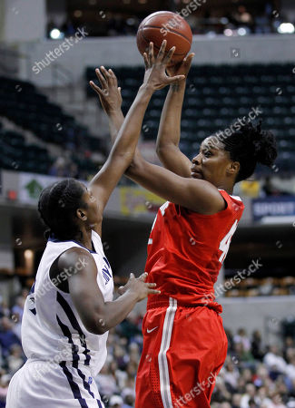 Jantel Lavender, Nikki Greene Ohio State center Jantel Lavender, right, shoots over Penn State center Nikki Greene in the second half of an NCAA college basketball game in the final of the Big Ten tournament in Indianapolis, . Ohio State defeated Penn State 84-70