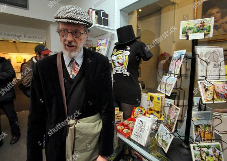 Robert Crumb Comic book author and illustrator Robert Crumb visits the gift shop displaying some of his creations at the Society of Illustrators in New York