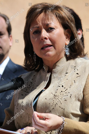 Susanna Martinez Gov. Susana Martinez speaking at a news conference at Wood Gormley Elementary School in Santa Fe, N.M. Martinez, under fire by immigrants rights groups for her attempts to repeal a law that lets illegal immigrants get driver's licenses, admitted in a interview with Univision that her grandparents were illegal
