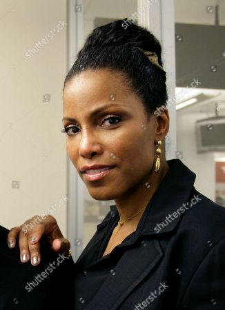 Ilyasah Shabazz daughter of slain civil rights leader Malcolm X, are shown on in New York
