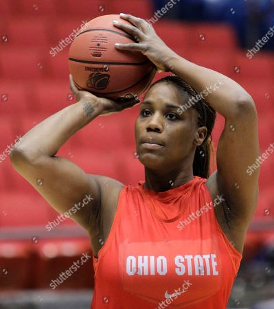 Jantel Lavender Ohio State center Jantel Lavender shoots during practice for an NCAA tournament regional semifinal basketball game, in Dayton, Ohio. Ohio State plays Tennessee Saturday