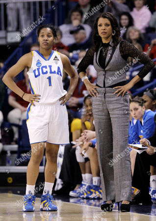 Nikki Caldwell, Nina Earl UCLA coach Nikki Caldwell, right, and Nina Earl in action against Gonzaga during the second half of their second-round game of the NCAA women's college basketball tournament, in Spokane, Wash. Gonzaga won 89-75