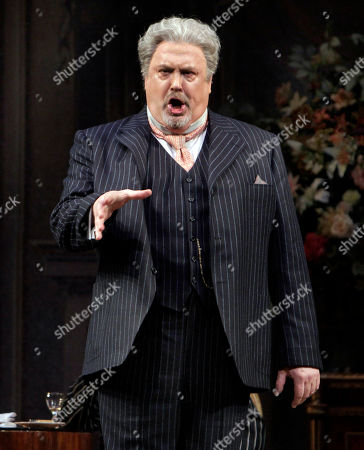 """Peter Rose Peter Rose, as La Roche, during the final dress rehearsal of Richard Strauss's """"Capriccio"""" in the Metropolitan Opera at New York's Lincoln Center"""