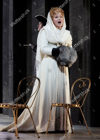 """Karita Mattila Karita Mattila portrays Lisa during the final dress rehearsal of Peter lyich Tchaikovsky's """"Queen of Spades"""" at New York's Metropolitan Opera. Tchaikovsky's """"Queen of Spades"""" unfolds with the feverish intensity of a nightmare, punctuated by intervals of courtly elegance and pastoral innocence that offer only brief respite from a gathering sense of doom. In the revival of Elijah Moshinsky's 1995 production that opened at the Metropolitan Opera on Friday night, these elements are perfectly balanced, thanks to fine performances by a starry cast and the supple shaping of the score by conductor Andris Nelsons"""