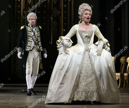 """Karita Mattila Karita Mattila portrays Lisa during the final dress rehearsal of Peter Ilyich Tchaikovsky's """"Queen of Spades"""" at New York's Metropolitan Opera. Tchaikovsky's """"Queen of Spades"""" unfolds with the feverish intensity of a nightmare, punctuated by intervals of courtly elegance and pastoral innocence that offer only brief respite from a gathering sense of doom. In the revival of Elijah Moshinsky's 1995 production that opened at the Metropolitan Opera on Friday night, these elements are perfectly balanced, thanks to fine performances by a starry cast and the supple shaping of the score by conductor Andris Nelsons"""