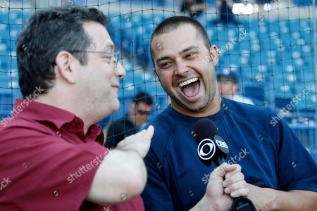 Andy Kindler, Nick Swisher Standup comedian Andy Kindler, left, interviews New York Yankees right fielder Nick Swisher before the Yankees' spring training baseball game against the Baltimore Orioles at Steinbrenner Field in Tampa, Fla