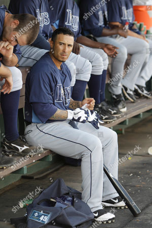 Felipe Lopez Tampa Bay Rays second baseman Felipe Lopez (45) seen in the dugout during a spring training baseball game, in Jupiter, Fla