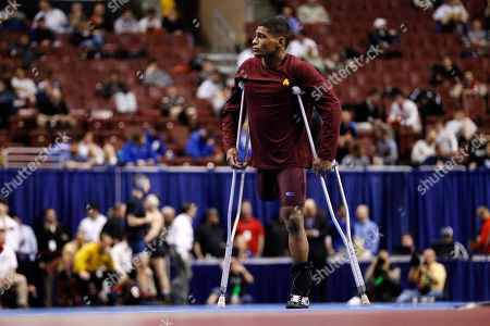 Anthony Robles Arizona State's Anthony Robles paces before a 125-pound quarterfinals match against Oklahoma's Jarrod Patterson during the NCAA Division I Wrestling Championships in Philadelphia. Robles, born without a right leg, completed a 36-0 season at Arizona State with an NCAA wrestling title. Now, Robles is turning to a book and movie of his life and motivational speaking