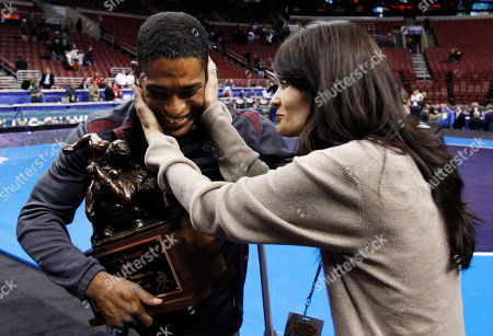 Anthony Robles Arizona State's Anthony Robles, left, greets his mother, Judy Robles after he won the outstanding wrestler award at the NCAA Division I Wrestling Championships in Philadelphia. Robles, born without a right leg, completed a 36-0 season at Arizona State with an NCAA wrestling title. Now, Robles is turning to a book and movie of his life and motivational speaking