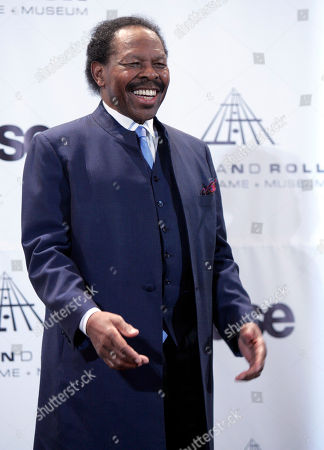 Lloyd Price Presenter Lloyd Price appears backstage at the Rock and Roll Hall of Fame induction ceremony, in New York