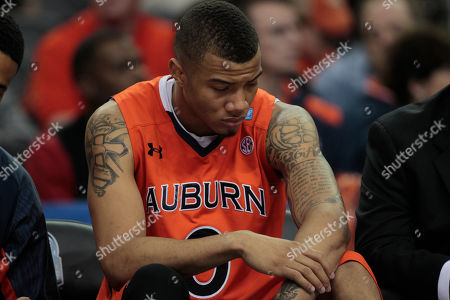 Stock Picture of Auburn guard Josh Langford (0) reacts in the closing moments of an NCAA Southeastern Conference college basketball game against Georgia, in Atlanta. Georgia won 69-51
