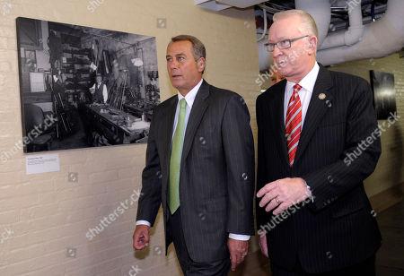 John Boehner, Howard McKeon House Speaker John Boehner of Ohio, left, and Rep. Howard McKeon, R-Calif. walk to a Republican policy meeting on Capitol Hill in Washington