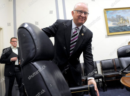 Howard McKeon House Armed Services Committee Chairman Rep. Howard McKeon, R-Calif., moves his chair on Capitol Hill in Washington, after speaking about military operations in Libya