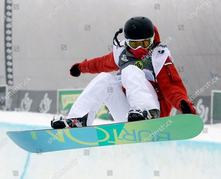 Hannah Teter Hannah Teter of the United States competes in the women's halfpipe semifinals at the U.S. Open Snowboarding Championships in Stratton, Vt., on