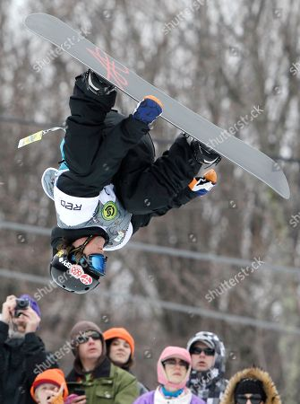 Louie Vito Louie Vito of the United States, competes in the men's half-pipe at the U.S. Open Snowboarding Championships in Stratton, Vt., on . Vito finished in fourth place