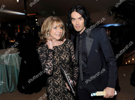 Stock Picture of Russell Brand, Barbara Elizabeth Actor and singer Russell Brand, right, and his mother Barbara Elizabeth pose at the Governors Ball following the 83rd Academy Awards, in the Hollywood section of Los Angeles